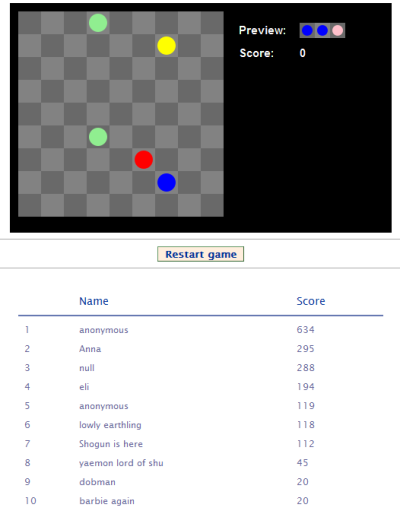 A simple canvas-based Javascript game, with a Django back
