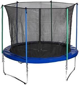 A blue jumpy trampoline